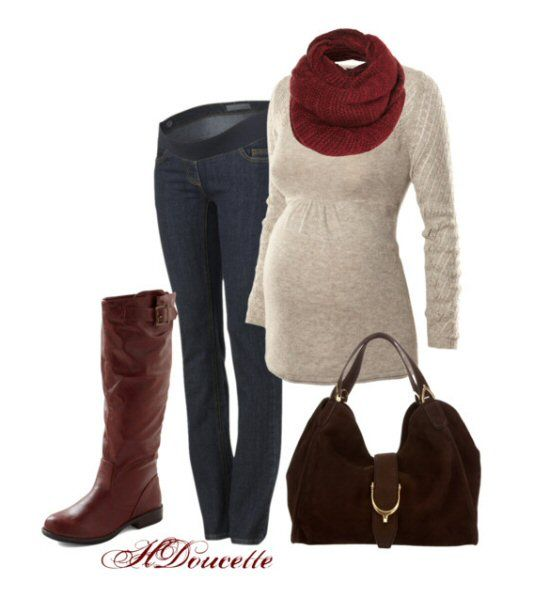 Cute Fall Winter Maternity Outfits