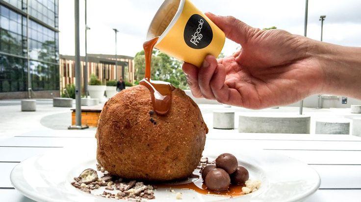 Wonderfully Giant Deep Fried Nutella Ice Cream Ball #nutella