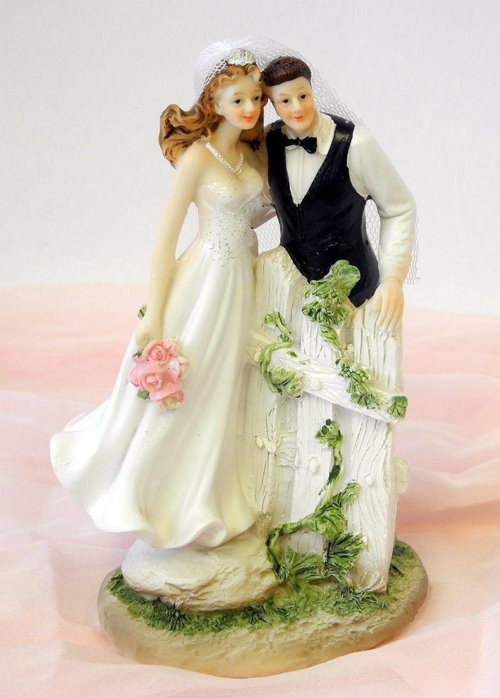 Dekofigur Brautpaar Am Zaun Hochzeitspaar Hochzeit Geschenk Tortendeko Sammeln Seltenes Saisonales Feste Hochzeit Brautpaar Braut Hochzeitspaar