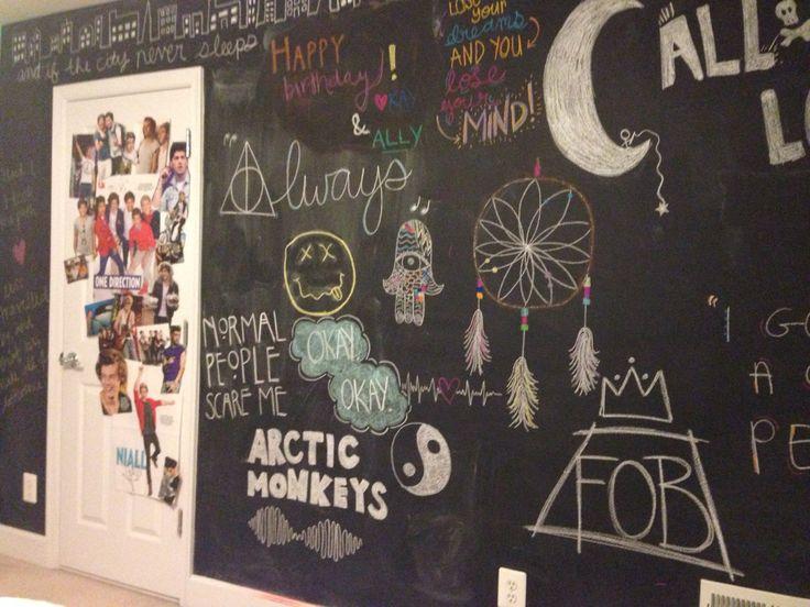 Best 25 Chalkboard wall bedroom ideas on Pinterest Chalkboard