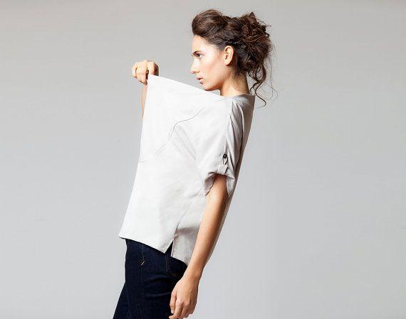 Cowl Neck Bluse von ColeHands auf Etsy, $140.00