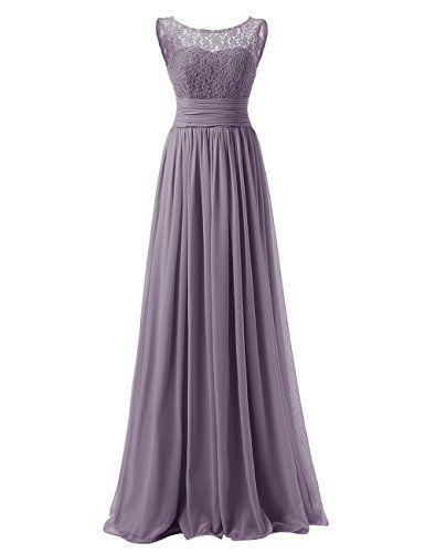 Dresstells® Long Prom Dress Scoop Bridesmaid Dress La…
