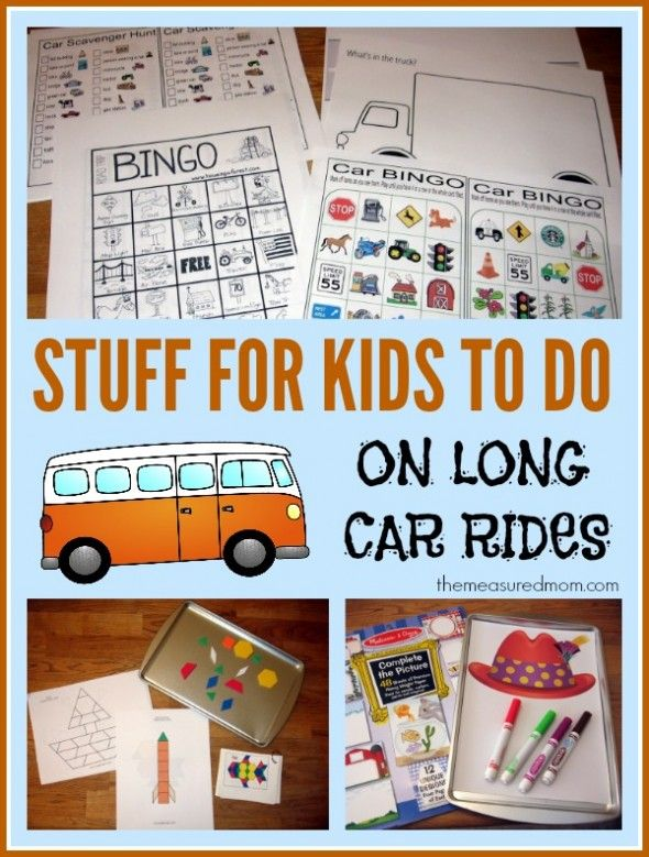 This stuff kept my kids busy for 20 hours in the car!