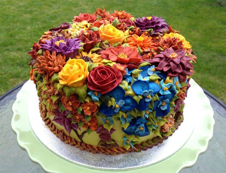 Autumn Garden Cake