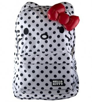 Hello Kitty Black and White Polka Dots Backpack So Cute!!