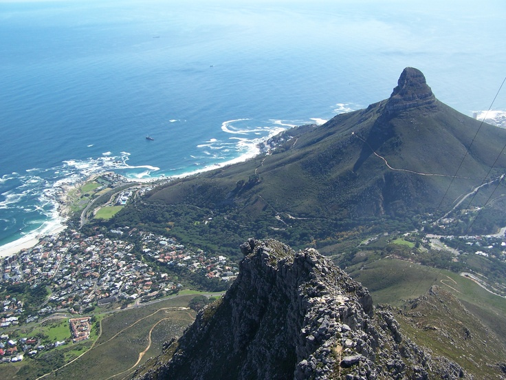 Lions Head, Signal Hill, and looking down on Sea Point from Table Mountain, Cape Town South Africa