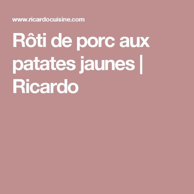 Rôti de porc aux patates jaunes