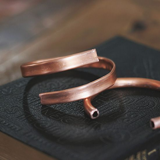 Make your own copper cuffs in under five minutes!