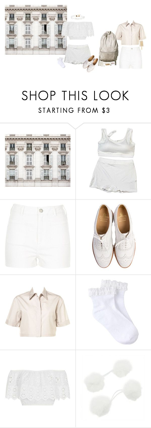 """""""Milky White Motel"""" by thisrandomusername ❤ liked on Polyvore featuring Shabby Chic, River Island, Crockett & Jones, Miguelina, ASOS and vintage"""