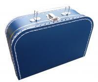 Kinderkoffertje donkerblauw 25 cm voor #jongenskamer #babykamer #nursery http://www.dekleineauto.nl/kinderkoffertjes