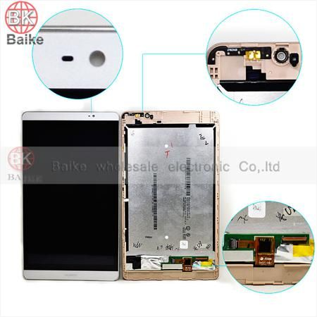 """Tablet pc parts For Huawei MediaPad M2 8"""" lcd screen display + Touch screen Digitizer Assembly white free shipping  — 3836.42 руб. —"""