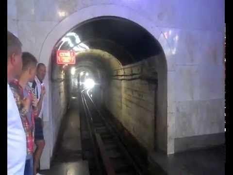 Метро в Новом Афоне. Новоафонские пещеры. Subway in New Afone.V mountain...