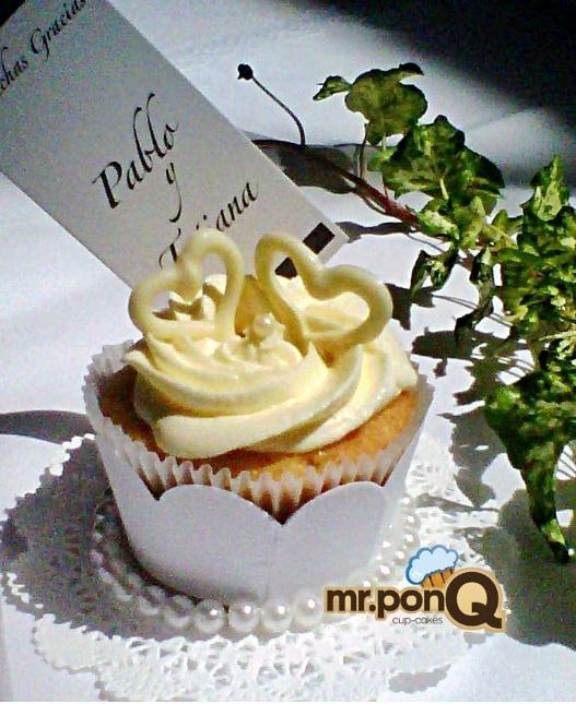 mr.ponQ cup-cakes para agradecer tu compañía en nuestro mejor día
