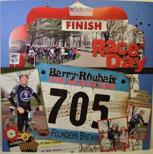 Race Day 12x12 Scrapbook Layout