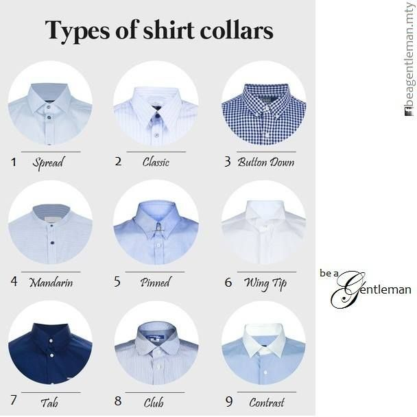 88 best style m images on pinterest ties men 39 s clothing for Different types of dress shirt collars
