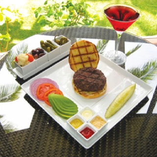 Room service at Koa Kea Hotel and Resort Poipu Beach, Kauai, Hawaii - Food Styling - Now that's how you serve a Burger! - Food Serving - Food Presentation - Culinary - Culinary Presentation - Feng Shui Design Your Events with a Professional Feng Shui Consultation at www.DeniseDivineD.com/feng-shui-design