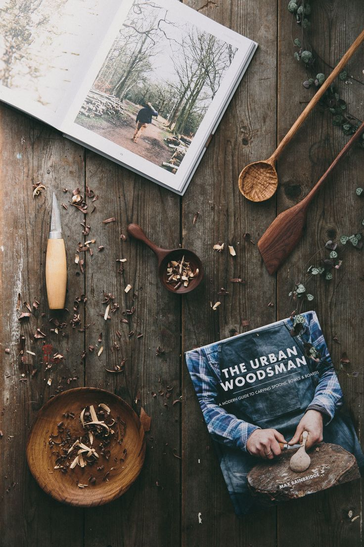 The Urban Woodsman. A Modern Guide to Carving Spoons, Bowls and Boards by Max Bainbridge of Forest and Found.