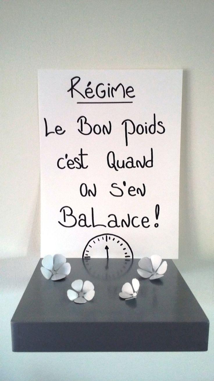 """""""Régime , le bon poids c'est quand on s'en balance"""""""
