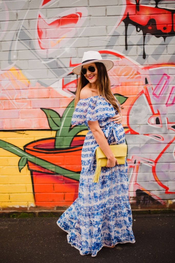 Maxi Dresses make great maternity options as well! Such a cute Spring dress to wear with or without a bump!