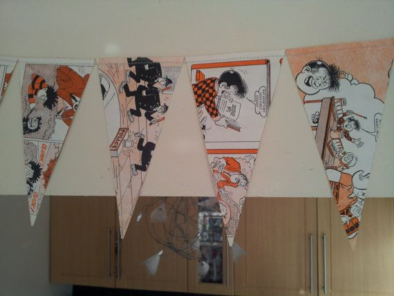 Comic bunting made from Beano Dandy and Pokemon by Weaveknitit, £2.50