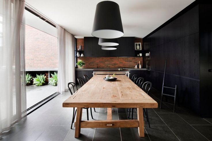 modern interpretation of the classical eat-in kitchen