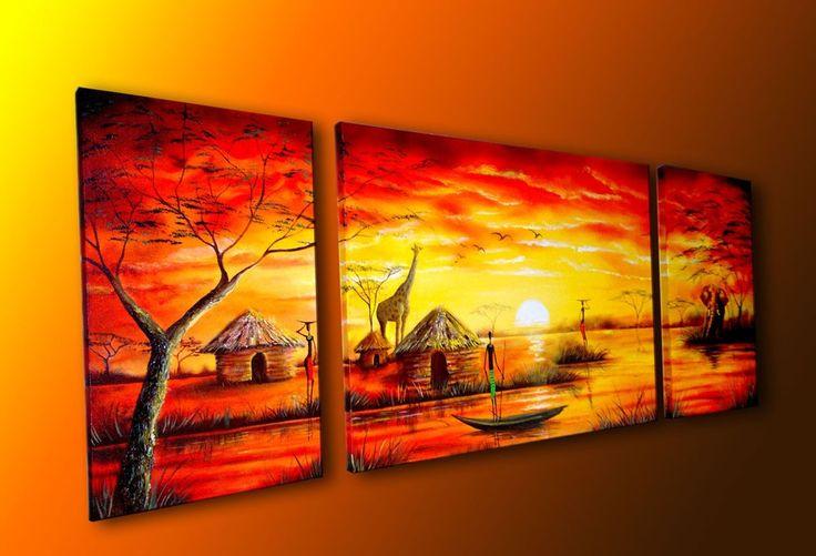 Cuadros Pintura Africanas - $ 350.000 en MercadoLibre