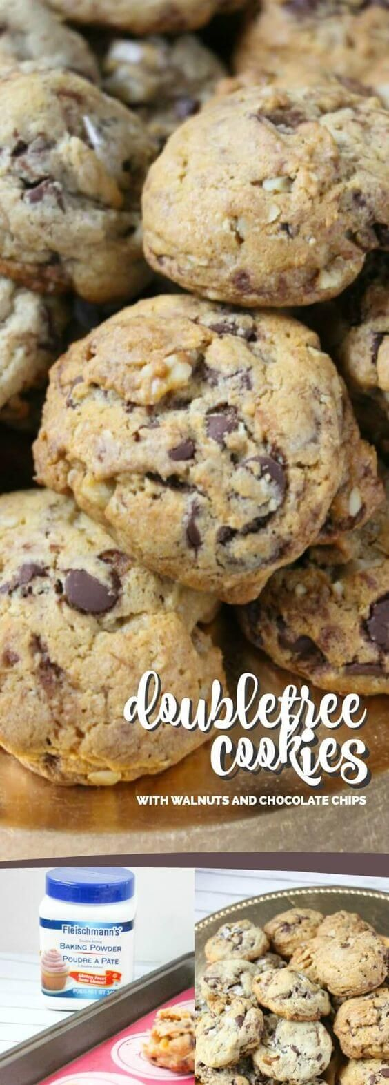 Doubletree Cookies with Walnuts & Chocolate Chips via @spaceshipslb