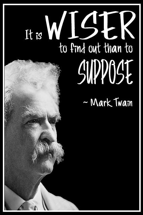My hat goes off to Mark Twain