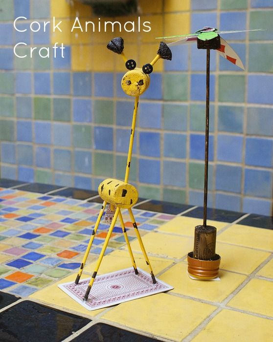 pictures uses for corks   Cork Animals Craft Idea   Go Graham Go