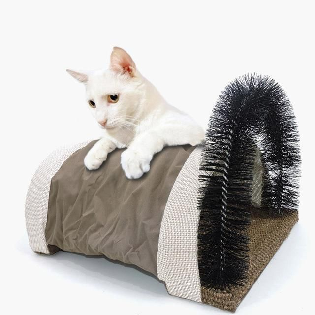 Cat Self Groomer And Massager In 2020 Cat Pet Supplies Cat Tunnel Cat Shedding