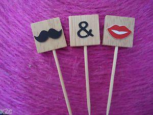 Wooden Scrabble Letters Moustache Lips CUP Cake Wedding Cake Topper Engagement | eBay