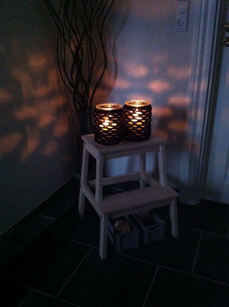 Lanterner med hæklet pynt