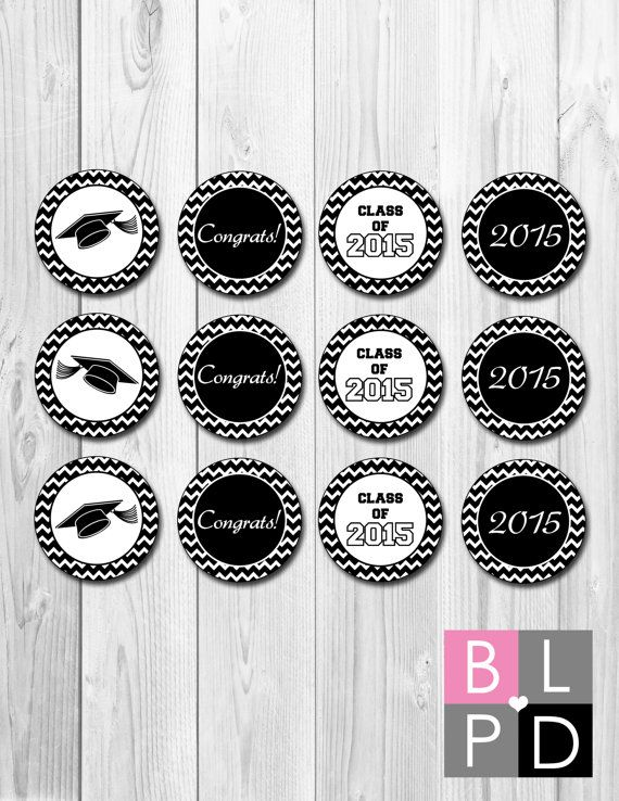 INSTANT DOWNLOAD Cupcake Toppers Chevron por BeccaLeePaperie