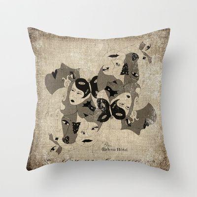 BW Throw Pillow by Helena Hotzl - $20.00