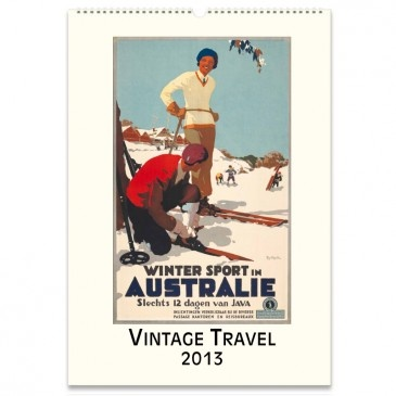 2013 Wall Calendar - Vintage Travel