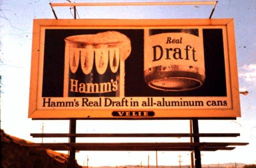 """Vintage Rapid City Billboard """"Hamm's Real Draft"""" c.1965"""