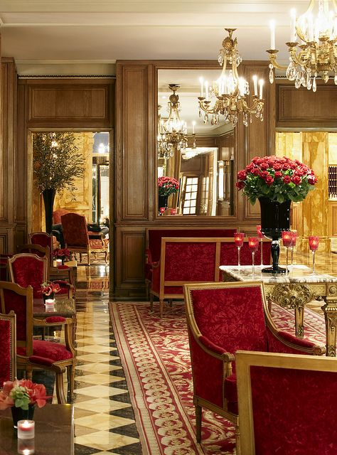 Luxurious atmosphere in the gallery of The Hôtel de Crillon, Paris, France | Flickr - Photo Sharing!