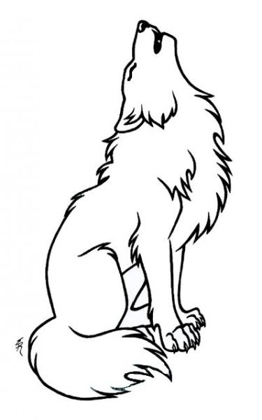Wolf Tattoo Outline Howling Wolf Outline Tattoo Google Search | Tattoos | Pinterest