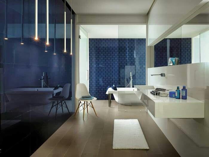 Color de piso, combinación para baño