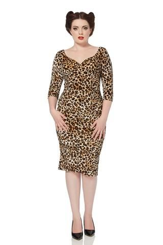 Voodoo Vixen Velvet Leopard Print Dress