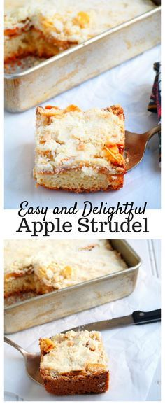 Keep cozy and satisfied this Fall season with this easy and simple Apple Streusel. This treat combines tender crisp apples, slivered almonds and buttery crumb toppings in a perfect easy to bake dessert.