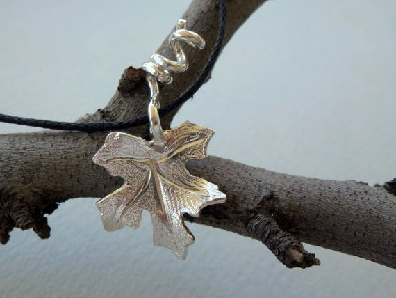 Vine Leaf sterling silver necklace, Autumn leaves, Natural Woodland Theme