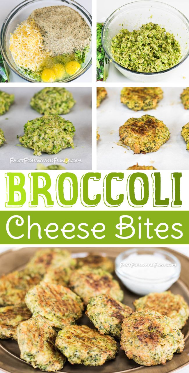 Broccoli Cheese Bites -- Kids love these!! (quick video tutorial and step-by-step photos). Fast Forward Fun