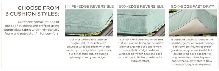 Outdoor Chaise Cushion with Knife Edge Welts Canvas Brass Sunbrella | Ballard Designs