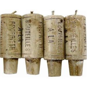 Novelty Lifesize Wine Cork Candles - set of 4