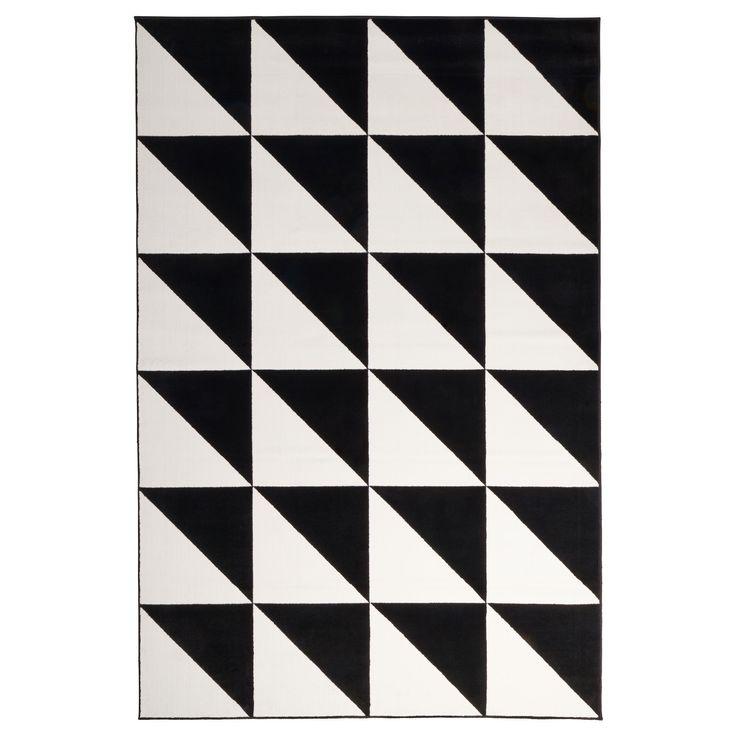 SILLERUP halı siyah-beyaz 200x300 cm   IKEA Ev Tekstili
