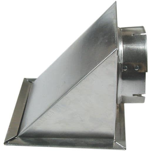 Builder's Best 4 Dryer Eave Vent 110166 Unit: Each, Silver aluminum