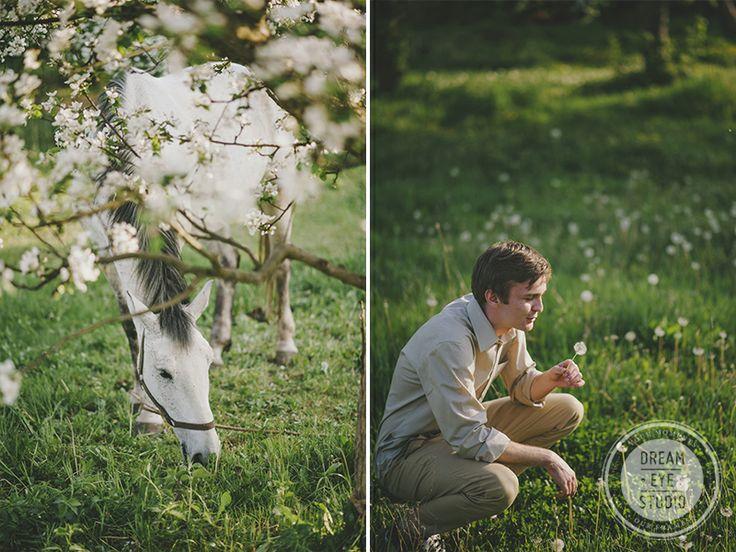 http://dreameyestudio.pl/  #boy #horse #whitehorse #spring #horse #dreameyestudio