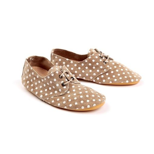 Anniel Beige Polka Dots shoes. OMG i want these so bad.