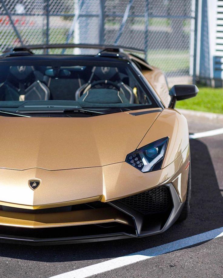 Lamborghini Aventador Super Veloce Roadster Painted In Oro